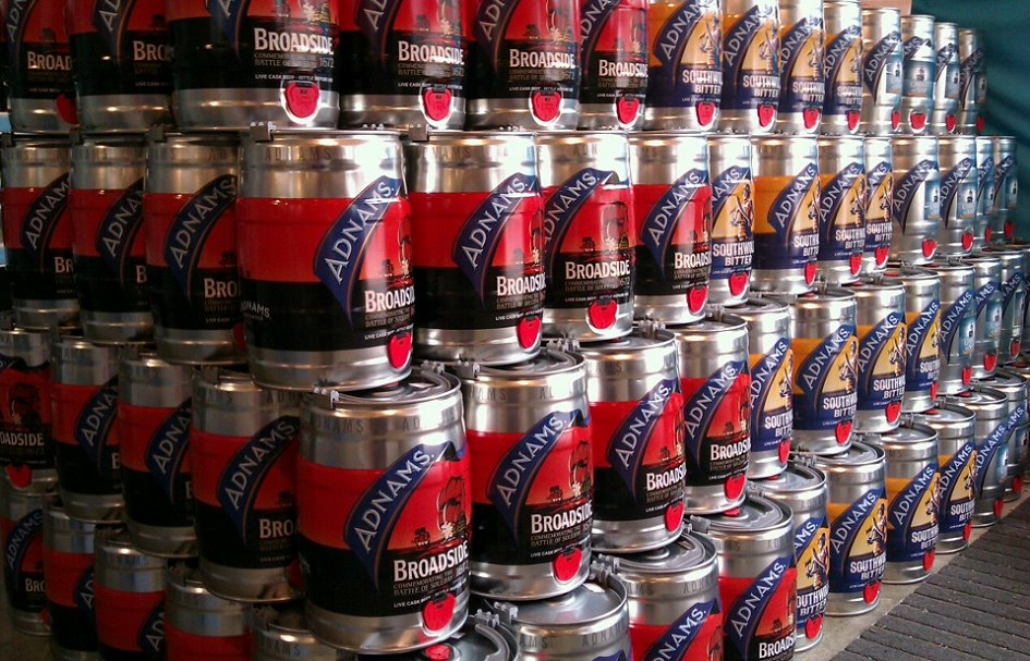 Adnams Broadside Southwold mini keg storage 945