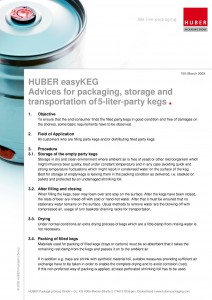 Huber Packaging advice for packaging storage pdf cover