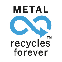 Metal recycles forever logo 249
