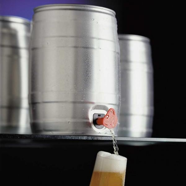 Neutral silver mini keg non-drip tap 944