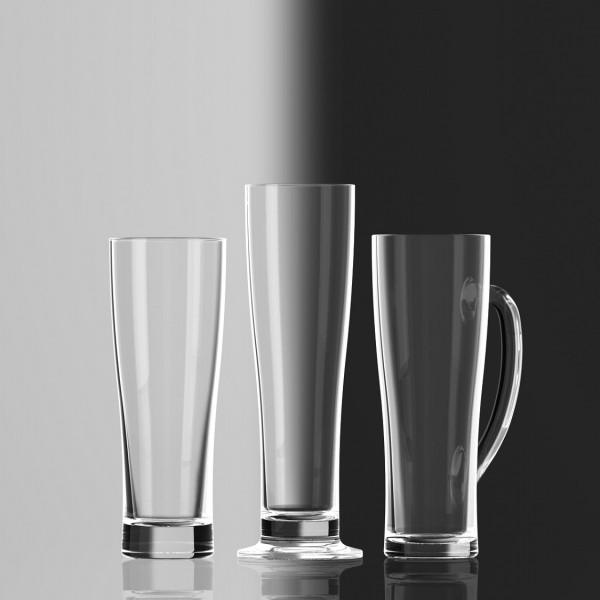 Sahm branded beer glasses Aspen family 1125
