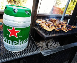 Heineken Brewery mini keg BBQ barbeque draught beer 600