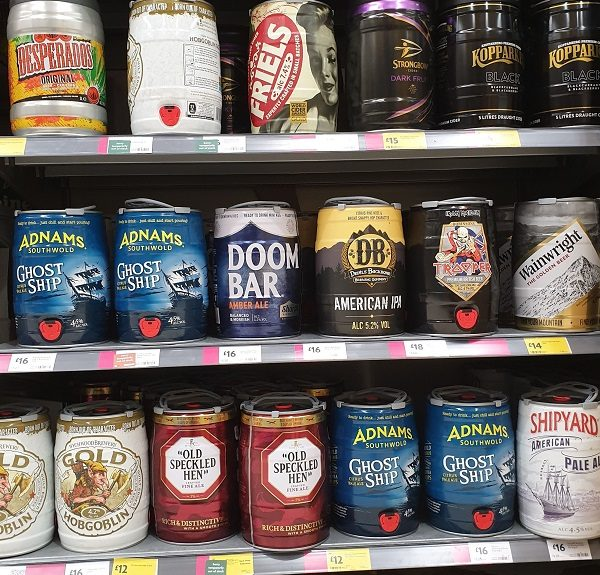 Mini Keg Morrisons supermarket June 2019 Minikegs