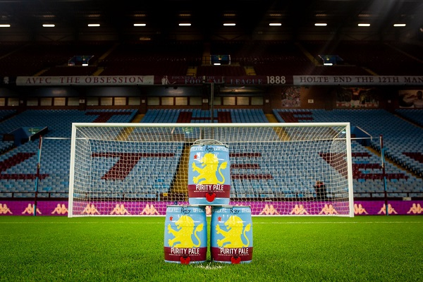 Aston Villa Football Mini Kegs Purity Pale 600