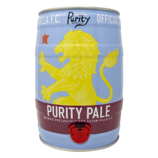 Purity Pale Aston Villa football mini-keg