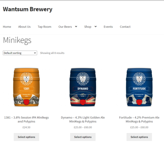 Wantsum Brewery Mini Keg Shop