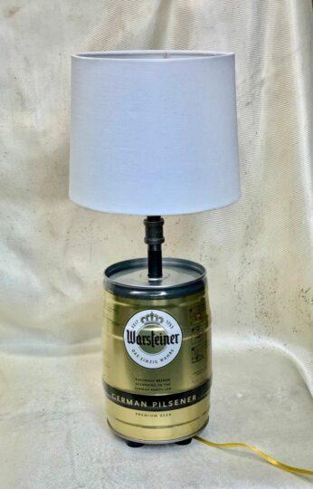 Warsteiner mini beer keg lamp
